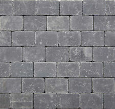 Pflastersteine Antik Gekollert Steine Anthrazit Basalt Altstadt Pflaster  Beton