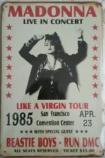 Madonna Like A Virgin Tour 23 April 1985 Vintage Metal Sign Plaque Home Studio