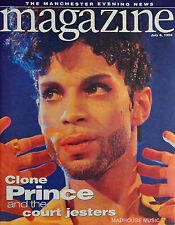 PRINCE Magazine MANCHESTER Evening News UK 1994 COVER + Article UK Party + Flyer
