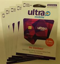 Ultra Mobile DUAL SIM  Prepaid, SIM CARD UNACTIVATED. WORK WITH TMOBILE PHONE
