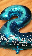 Personalised Helium Foil Number Balloon Birthday Painted Outline