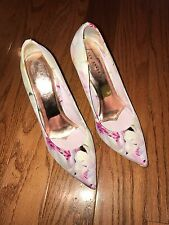 TED BAKER White Floral Garden Heels Size 37