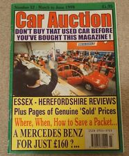 Car Auction Motor Trade Used Car Magazine March June 1999 Essex Herefordshire