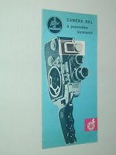 DEPLIANT PUBLICITAIRE caméra B8L mm PAILLARD BOLEX   en français