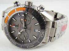 New Omega Seamaster Planet Ocean Titanium Chronograph Watch 215.90.46.51.99.001