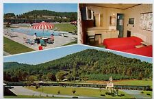 FRANKLIN NC old Thrift Courts Motel 3 Views Hwy 441 f postcard
