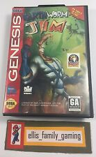 Earthworm Jim Sega Genesis 1994 Complete Cleaned - Works Great - Ships Fast