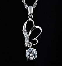 925 Sterling Silver Pendant butterflies for Female Gift