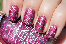 Sally Hansen GEM CRUSH 07 LADY LUCK Nail Polish PINK SPARKLE GLITTER *NEW!*