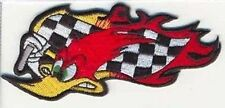 WOODY RACING FLAG Embroidered Biker Motorcycle MC Club Bike NEW Patch PAT-2050