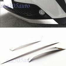 SUS304 Stainless Steel Front Bumper Lip Trim Cover Lower For Toyota C-HR 2017