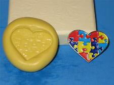 Autism Awareness Puzzle Heart Silicone Push Mold Food Safe Crafts Candy A235