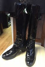 COLE HAAN Ladies Black Patent Leather Knee-High Boots Nike Air Size 10B
