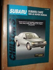 1985-1992 SUBARU SERVICE MANUAL SHOP BOOK REPAIR 86 87 88 89 90 91 CHILTONS