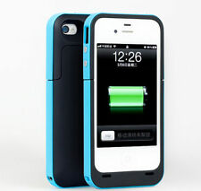 Blue Battery Charger Case for iPhone 4 & 4s Smart Phone Cover with Cable