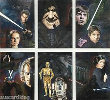 Star Wars - Galaxy Series 4 - Chase Foil Trading Card Set (6) - TOPPS 2009 - NM