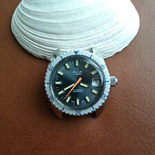 Vintage Avia Divers Watch w/Mint Dial,Warm Patina,All SS Case,Screwdown Crown