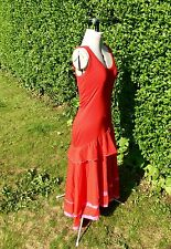 MARC CAIN DRESS SIZE 2 FLAMENCO STYLE FITS UK10