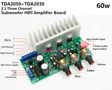 TDA2050A+TDA2030A+NE5532 2.1 Bass Subwoofer Audio HIFI Amplifier Board Module