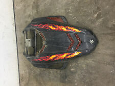 03 04 05 06 07 Yamaha Rage Nytro Vector RX1 Attak Hood Assembly Black Flames