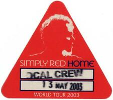 Simply Red Home - World Tour 2003 - Local Crew Satin Pass vom 13.05.2003