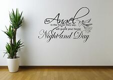 ANGEL NIGHT HOME QUOTE WALL ART WALL STICKER DECAL MURAL STENCIL VINYL CUT PRINT