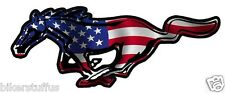 MUSTANG AMERICAN HORSE FLAG STICKER