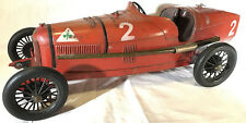 1920s CIJ ALFA ROMEO P2 Racer French Tin Steel Clockwork Windup Toy Race Car