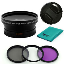 Fisheye .43X WIDE ANGLE LENS,filter kit,cap for Canon EF-S 18-135mm f/3.5-5.6 IS