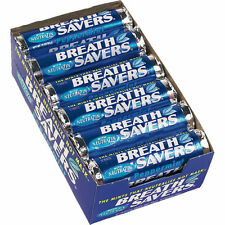 X48 BREATH SAVERS PEPPERMINT CANDY MINTS TWO BOXES OF 24 = 48 ROLLS