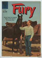 Vintage 1960 Dell Exciting Adventure Comic #1133  FURY - The Mystery Rustlers