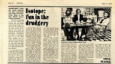 (Sds)11/5/1974Pg34 Article & Picture, Isotope