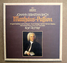 Bach St Matthew Passion Karl Richter 4xLP Stereo Box Set ARCHIV 2722 023 EX/NM