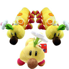 Super Mario Little Buddy Soft Plush Lovely Game Caterpillar Doll With Flowers