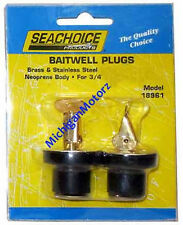 "Livewell/Baitwell Rubber Drain Plugs - Pair - 3/4"" - 18961"