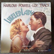 LIBELED LADY Laserdisc LD Jean Harlow Myrna Loy Spencer Tracy [ML100892]