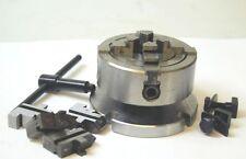 70 MM Mandrin 4 Mors Indépendants sur Plaque arrière pour 3 & 10.2cm Rotatif