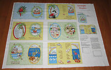 BAZOOPLE PIRATES Childrens 100% Cotton Fabric Book Panel EASY TO SEW