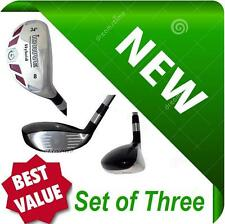 NEW Made Hybrids Set of 3 Taylor Fit #7 #8 #9 REGULAR Graphite Rescue Iron Woods