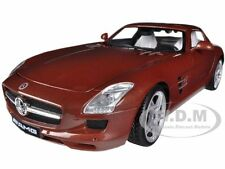 MERCEDES SLS AMG GULLWING CHOCOLATE 1/18 DIECAST CAR MODEL BY MOTORMAX 79162