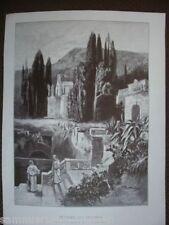 HOLZSTICH Kloster bei Spalato nach einem Gemälde von P Reifenstein 1891 Kroatien