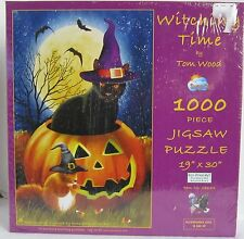 SunsOut Witching Time Black Halloween Cat 1000 Piece Jigsaw Puzzle Tom Wood