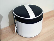 Estee Lauder 2017 Faux Leather Make-Up Case Travel Bag White/Navy + Mirror *NEW*
