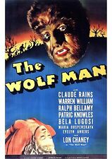 The Wolf Man - Lon Chaney Jr - A4 Laminated Mini Poster