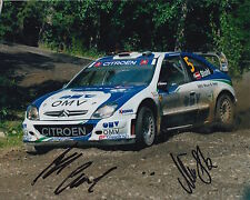 Manfred Stohl and Ilka Minor Hand Signed 10x8 Photo Citroen Xsara Rally 2.