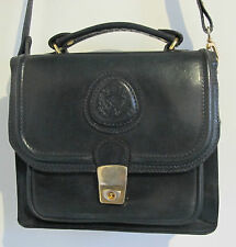 HANDBAG Shoulder Satchel Navy Genuine LEATHER Oggi Domani Cross body BAG Vintage