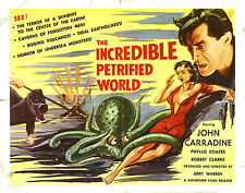 Framed Retro Movie Poster - The Incredible Petrified World 1957 (Replica Print)