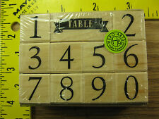 Rubber Stamp Classic Table Numbers Set Hero Arts New Stampinsisters #129