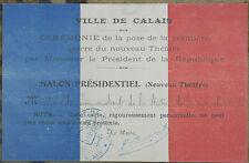 Carte laisser passer Salon Présidentiel Commandant Mer du Nord Calais