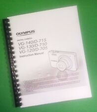 COLOR PRINTED Olympus Camera VG-140 D-715 Manual User Guide 76 Pages.